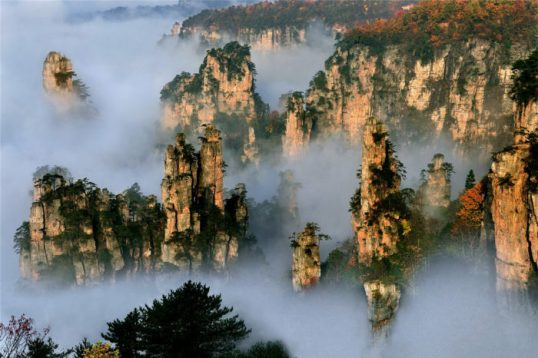 The Zhangjiajie National Forest Park is a unique national forest park located in Zhangjiajie City in Hunan Province in the People's Republic of China